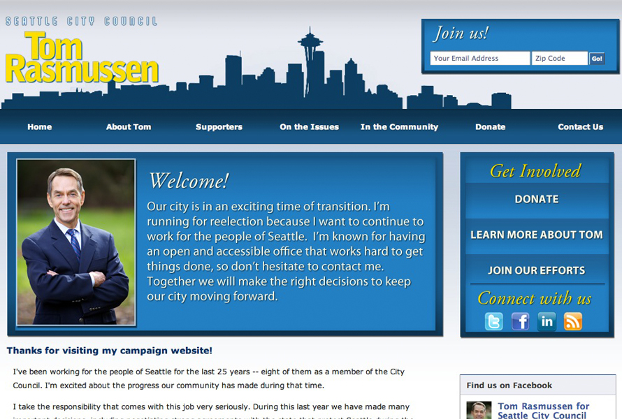 Tom Rasmussen for Seattle City Council