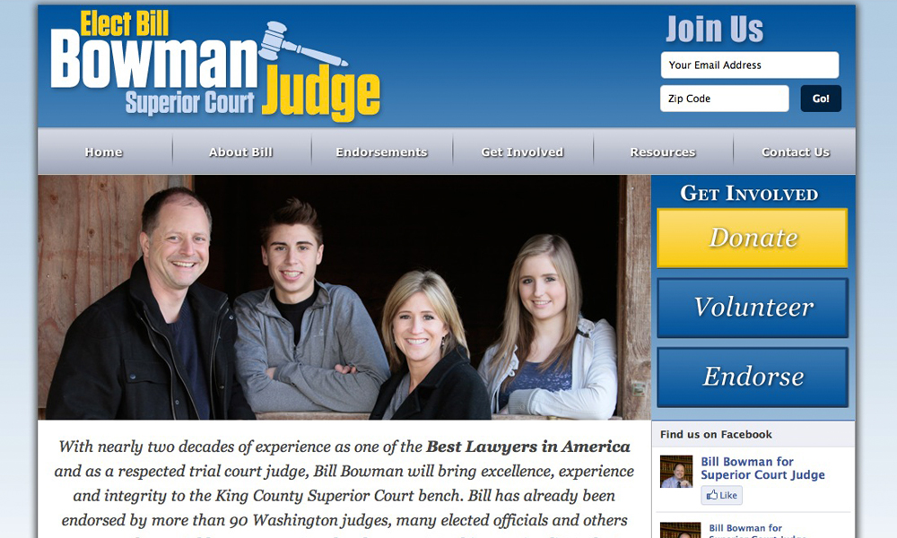 Bill Bowman for Judge